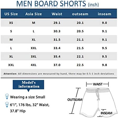 "SILKWORLD Mens 9"" Board Shorts Swim Trunks Long Athletic Swimwear with Pockets"