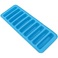 10 Grids Cylinder Silicone Ice Cube Tray Sky Blue Jelly Chocolate Mold