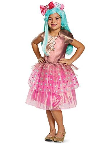 (Peppa-Mint Deluxe Shoppies Costume, Pink/Brown, Medium)