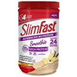 Slim Fast Advanced nutrition, Meal Replacement Shake Mix, Smoothie Vanilla Cream 20g high protein - Pack of 22.02oz total