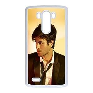 LG G3 Cell Phone Case White Enrique Iglesias Yellows Music Face T0S1FQ