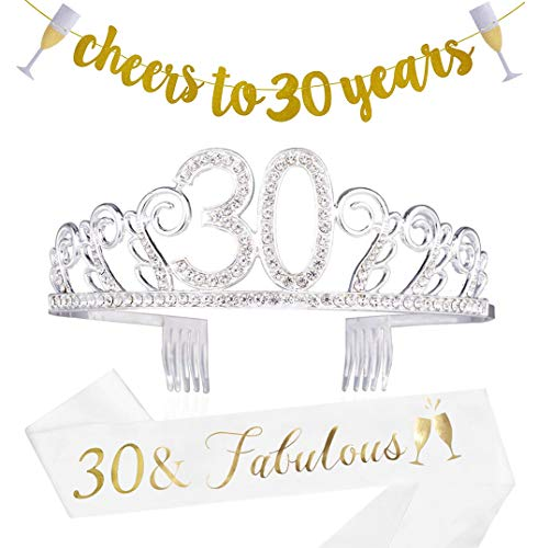 30th Birthday Decorations For Her - 30th Birthday Decorations Party Supplies -
