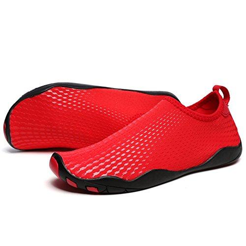 Plongée Tous pour Nager Femmes red Chaussures Rapide pour Sports Les Séchage xie Unisexe d'eau Et Hommes Plage Respirants 856Hwq