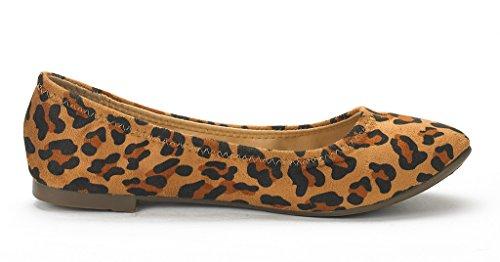 Droompaar Dames Enige Blije Ballerina Walking Flats Schoenen Leopard