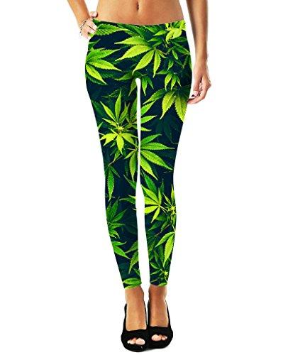Weed Girl Costume (Weed Leggings - Custom Leggings - All Over Print!)