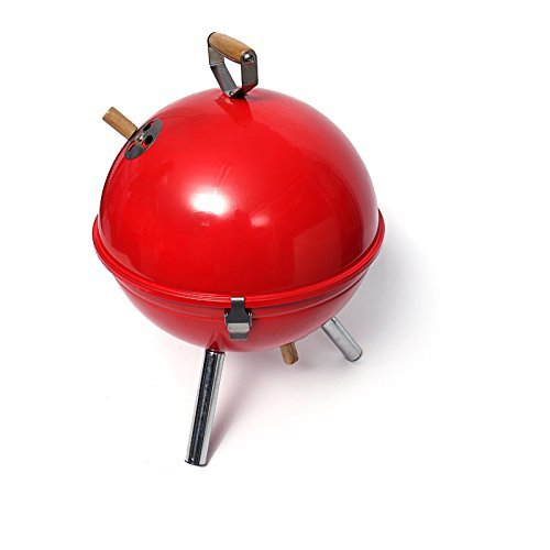 KANGXING Outdoor Footbool Household Charcoal Bbq Grills(red )Sports Outdoors Charcoal Grill