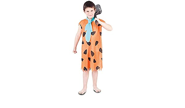 DISBACANAL Disfraz troglodita Naranja para niño - -, 7-9 años ...
