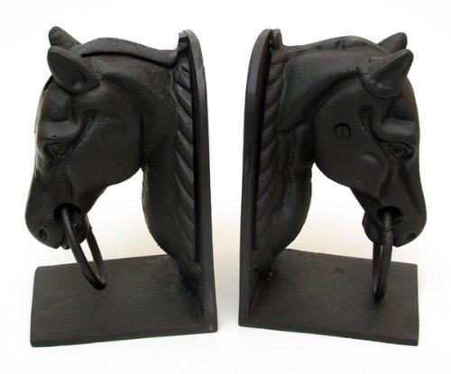 Cast Iron Horse Head Bookend Set