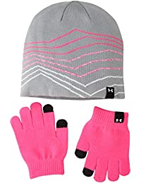Under Armour Women's Beanie/Glove Combo, Steel (035)/White, One Size