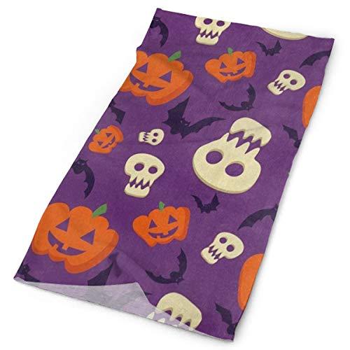 Airealy Variety Headscarf Custome Halloween Pumpkin Face Bat Headband Sports Headwear Outdoor Scarf Mask Neck Gaiter Head Wrap Sweatband -