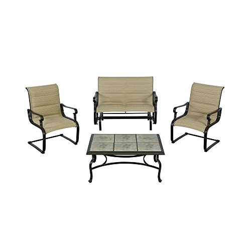 Yotrio Belleville Padded Sling 4-Piece Patio Seating Set