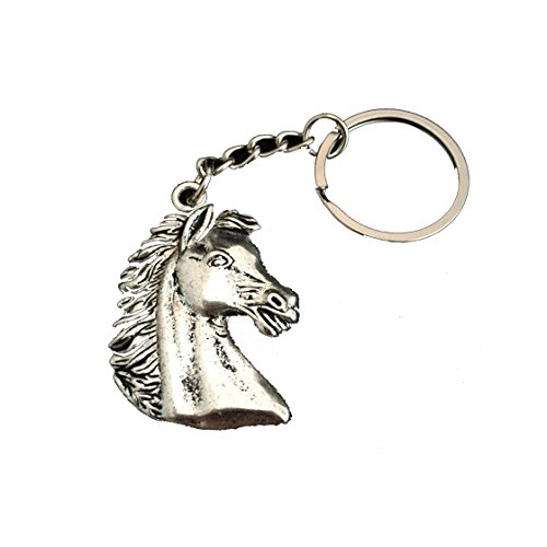 Mate2oPalo Car Pendant Gifts for Women Men Silver Horse Head Keychains Horses Keychains Jewelry