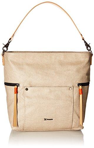 Tassel Accented Hobo Handbag - Sherpani Sonora Natural Travel Tote, Natural