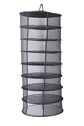 Zazzy 2ft 8 Layer Black Mesh Hanging Herb Drying Rack Dry Net (Dry Net)