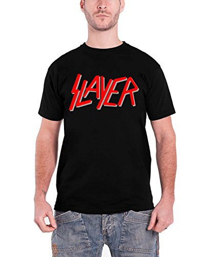 Slayer Classic Red Logo Official Mens New Black T Shirt - Slayer T-shirts Band