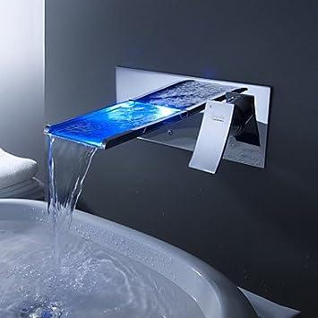 Sprinkle changement de couleur robinet conduit lavabo cascade