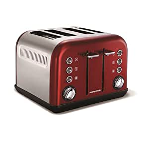 Morphy Richards 242004 4 Slice Accents Toaster - Red.