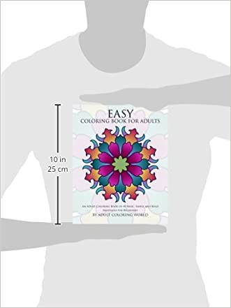 Easy Coloring Book For Adults An Adult Of 40 Basic Simple And