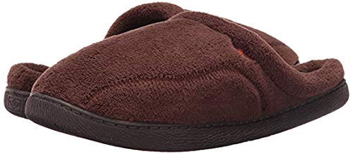 Dockers Terry - Dockers Mens Terry Clog Closed Toe Slip On Slippers, Brown, Size 11.0