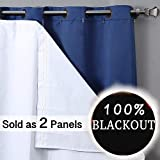 Rose Home Fashion 100% Blackout Curtain Liner Thermal Insulated White...