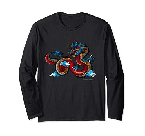 BeRandom Chinese Dragon Spirit Animal Totem Lng Sleeve Shirt