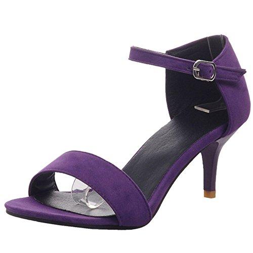 Sandales Bout Ete JOJONUNU Femmes Ouvert purple wAxIqBIFZ