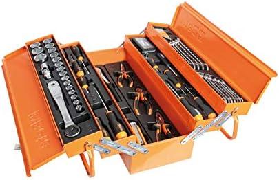 Beta 2120L-E/T91-I - Caja de herramientas de metal con juego de 91 herramientas para el mantenimiento general, de termoformato, contiene: llaves de vaso, llaves macho, alargadores, pinzas y más: Amazon.es: Bricolaje y