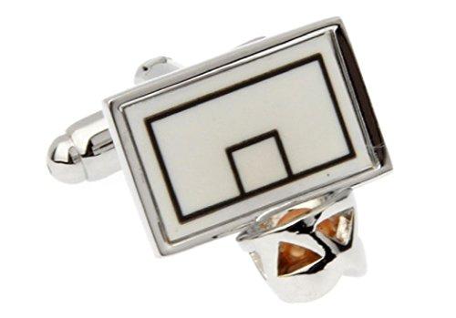 - MRCUFF Presentation Gift Box Basketball Backboard Net Hoop Pair Cufflinks & Polishing Cloth