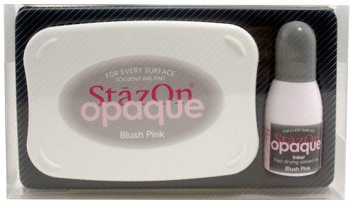 (Tsukineko StazOn Opaque Un-Inked Pad and Inker, Blush Pink)