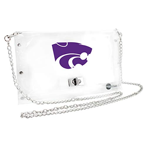 Littlearth Kansas State Wildcats  NCAA Envelope Purse, Clear  - 10 x 0.5 x 6.5 - Inch ()