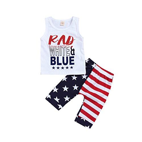 ModnToga Newborn Baby boy Wearing American Flag Summer