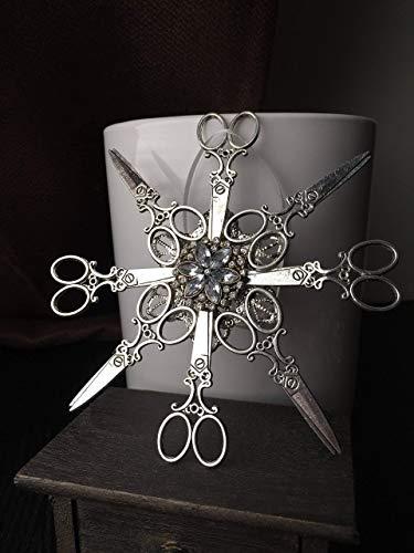 Hair Stylist Gifts - Snowflake Christmas Ornaments - Scissor Tree Decoration - Hair Dresser Gift - Dog Groomer Present