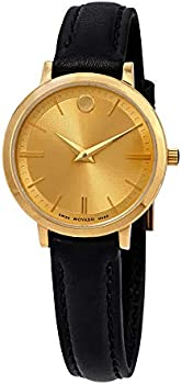 Movado Ultra Slim Gold Dial Ladies Watch