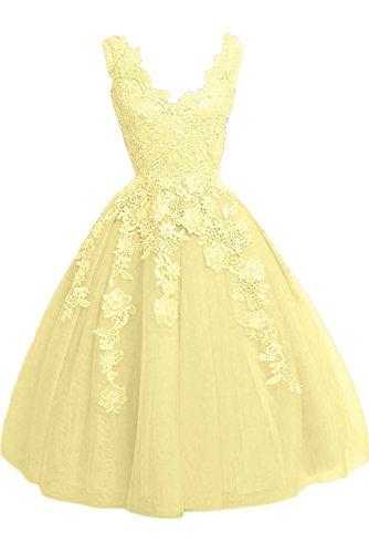 Rock Braut Prinzess Abendkleider mia A Lemon Gelb La Ballkleider Damen Festlichkleider Linie Gruen Promkleider Spitze Fx4wq1qCO