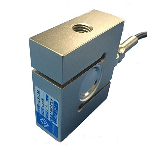 Pull Pressure Force Sensor S-type Load Cell 300KG 500KG 1.5T for Concrete Mixing Station Batching Scale Hopper Scale Pressure Testing Machine ()