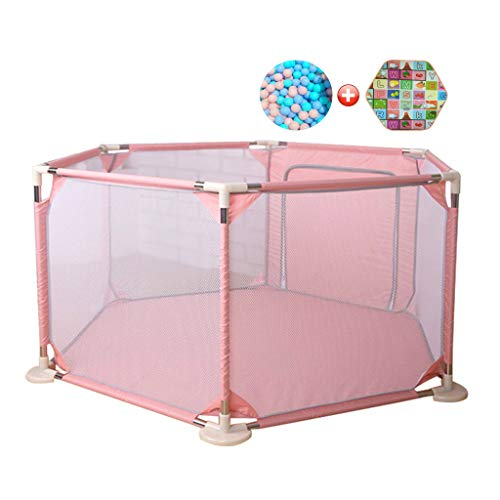 Price comparison product image Baby Playpen Fence Kids Activity Center Room Safety Playground Kids Play Yard Area Gate Stable with Crawling Mat and 200 Balls, 142x73cm