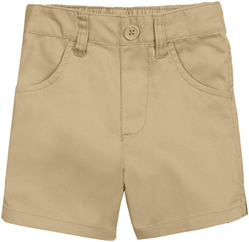 - French Toast School Uniform Girls Pull-On Shorts, Khaki, 5