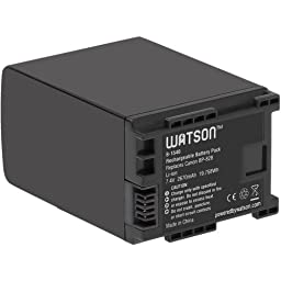 Watson BP-828 Lithium-Ion Battery Pack (7.4V, 2670mAh) -Replacement for Canon BP-828 Battery Canon HF-G30 , XA20 , XA25