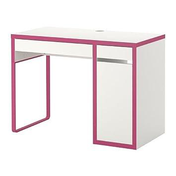 Ikea Micke Schreibtisch In Weißrosa 105x50cm Amazonde Küche