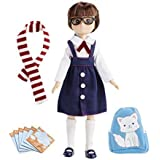 Doll by Lottie LT058 School Days | Dolls - Clothes - Accessories - Toy Sets - Collectible | Inspired by real kids!7 Inch 18 cm Doll With Brown Hair And Brown Eyes