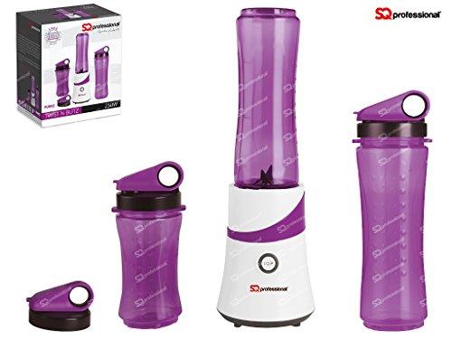 SQ-Pro-Fabricante-del-Smoothie-de-la-fruta-Exprimidor-Batidora-trituradora-de-hielo-de-300-W-con-3-x-botellas-de-Viajes-prpura