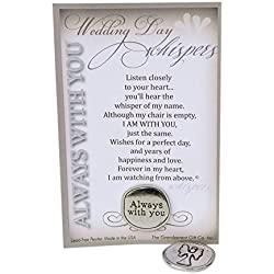 The Grandparent Gift Co. Wedding Memorial Gift | Always With You Wedding Day Whispers Pewter Coin and Sentiment Card