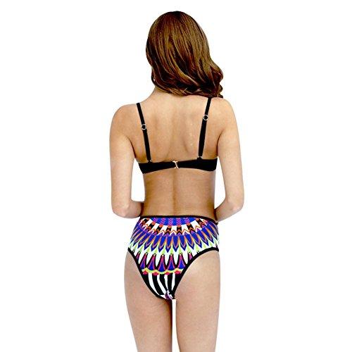MIAO Bikini Swimsuit Moda Beach Spa Floral Con Anillo De Acero Con Pecho Cojín Traje de baño