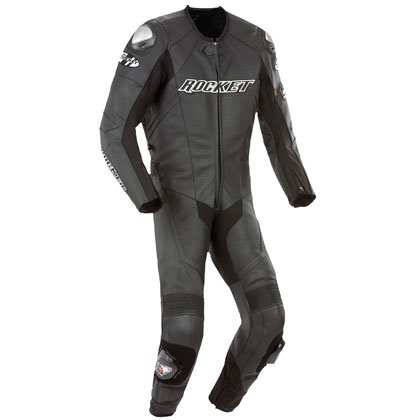 Joe Rocket Speedmaster 6.0 Men's One-Piece Motorcycle Race Suit (Black/Black/Black, Size 56)