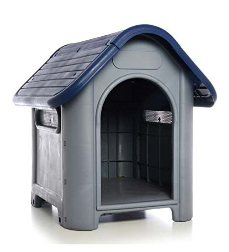 Plastic Dog House-Blue 29.13×22.44×25.98 In by DollarItemDirect