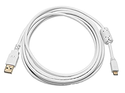 Monoprice 15-Feet USB 2.0 A Male to Micro 5pin Male 28/24AWG Cable with Ferrite Core