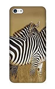 Storydnrmue Ultra Slim Fit Hard Case Cover Specially Made For Iphone 5c- Zebra Picture