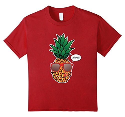 Kids Cool Pineapple Print Shirt With Stylish Sunglasses 6 - Print Pineapple Sunglasses
