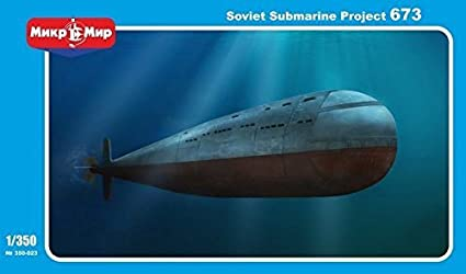 Amazon.com: * * * Soviética Submarino Proyecto 673 1/350 ...