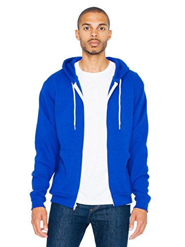 - American Apparel  Unisex Flex Fleece Zip Hoodie, Lapis, X-Large